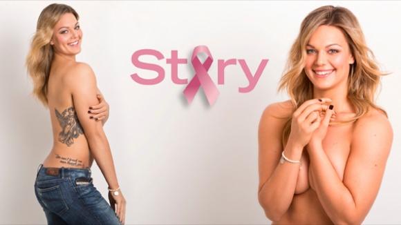 Перкович свали дрехи в името на борбата с рака на гърдата