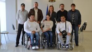 Заместник-кметът Казанлък поздрави параолимпийските герои