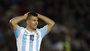 Аржентина без Агуеро срещу Парагвай