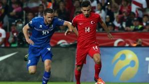 Турция е директно на еврофиналите след драматичен успех с 10 човека (видео)