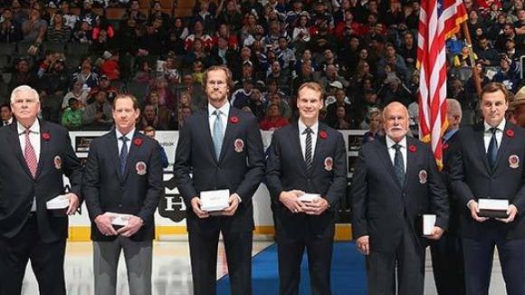 Великолепната седморка в Залата на славата на НХЛ