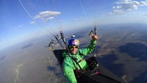 Наш парапланерист с рекорд в Бразилия