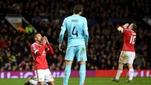 Манчестър Юнайтед не намери решение за ПСВ и ще трепери в Германия (видео)