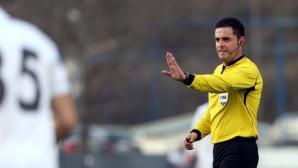 Никола Попов ще ръководи столичното дерби Левски - Славия