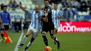 Малага изпусна аванс от два гола за 180 секунди