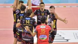 Перуджа с трета поредна победа в италианската Суперлига, Добри Димитров отново не игра