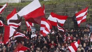 Фен на ЦСКА подновява протеста си пред БФС
