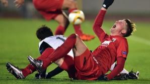 Централен защитник на Аугсбург със счупен крак след Партизан