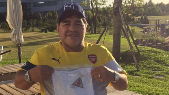Марадона е фен на Арсенал
