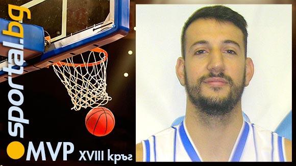 Симеон Илиев - MVP на XVIII кръг на НБЛ