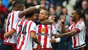 Съндърланд надигра и отдалечи още повече Манчестър Юнайтед от топ 4 (видео)