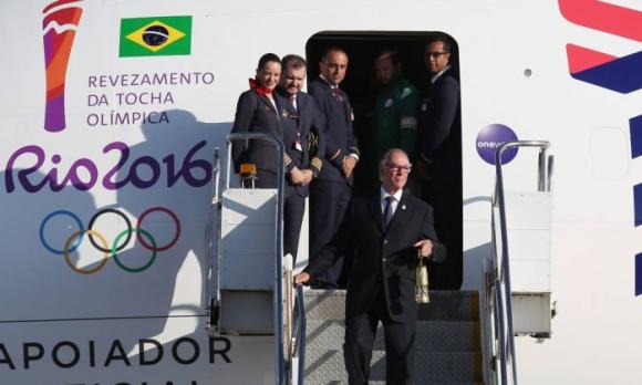 Олимпийският огън пристигна в Бразилия