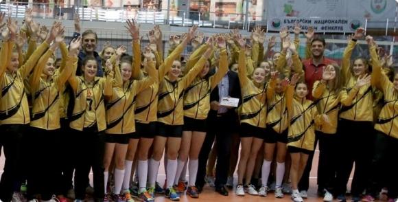 Женският национален отбор на откриването на Гала турнира от Скаут лигата