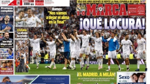 Испанските медии в екстаз от мадридския финал