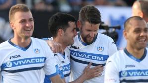 """Монтана - Левски 0:1, греда за """"сините"""""""