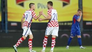 """Хърватия се спаси от резил срещу """"Б"""" отбора на Молдова"""