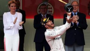 Хамилтън спечели в Монако и сложи край на повече от половингодишна серия без победа