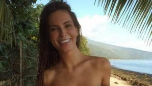 Гаджето на Дженсън Бътън топлес на плажа