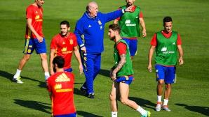 Провериха футболисти на Испания за допинг преди Италия
