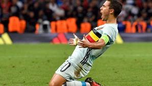 Азар бе избран за играч на мача срещу Унгария