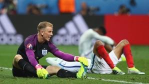 Джо Харт пое отговорността за втория гол и за отпадането на Англия от Евро 2016
