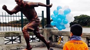 В Буенос Айрес откриха статуя на Меси (видео)