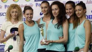 Ансамбълът с трета оценка на пет ленти на турнира от СК в Баку, Владинова финалистка на обръч и топка