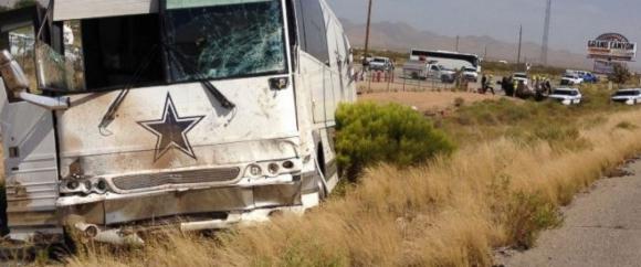 Автобусът на Далас Каубойс катастрофира, четирима загинаха (ВИДЕО)
