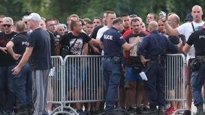 Полицията на крак в Разград заради феновете на Звезда (видео+фотогалерия)