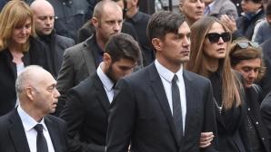Паоло Малдини се сбогува с майка си с трогателен жест