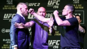 Според Конър, публиката в UFC 202 ще подкрепя Нейт, а не него