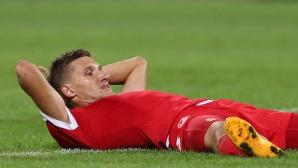 Травма в коляното мъчи Преслав Йорданов