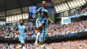 """Три от три и за Манчестър Сити, """"гражданите"""" на върха (видео)"""