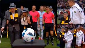 Футболистите на АИК с красив жест към най-възрастните фенове на отбора