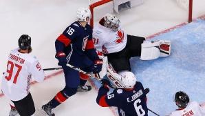 Тимът на САЩ отпадна безславно на Световната купа по хокей на лед