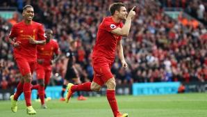 Много голове и зрелищна четвърта поредна победа на Ливърпул (видео)