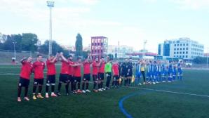Локо (Русе) игра цял мач с 10 души срещу Спартак (Варна)