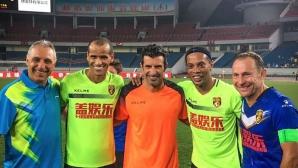 """Роналдиньо за Стоичков и още трима носители на """"Златната топка"""": Гордост е за мен да бъда до тези зверове!"""
