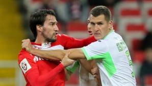 Уфа шокира Спартак (М), Попов с 20-ина минути игра и жълт картон