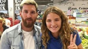 Щракнаха Меси в супермаркета