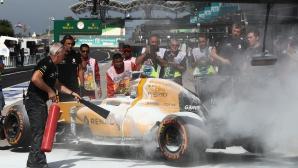 Рено: Огънят бе причинен от теч на гориво (Снимки)