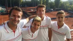 Националите ни играят с Унгария за седмото място на Junior Davis Cup