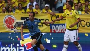 Колумбия и Уругвай си стиснаха ръцете след вълнуващо реми