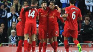 Ливърпул победи, но пропусна шанса да измести Арсенал от първото място (видео)