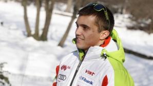 Алберт Попов завърши на 69-о място в първия манш в гигантския слалом от Световната купа