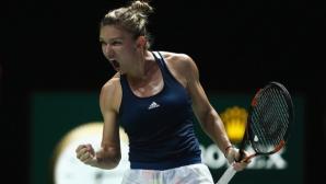 Халеп започна с победа в Шампионата на WТА