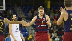Силен Везенков при категоричен успех на Барселона в Испания