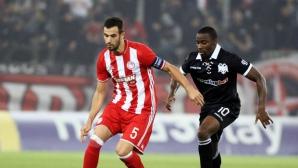 Късна драма и факли по терена на дербито между Олимпиакос и ПАОК