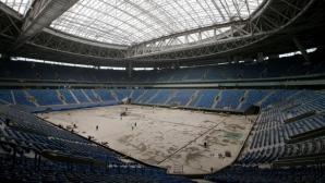Откриват стадион за Мондиал 2018 с мач между отбори на строителите му