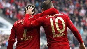 В Мюнхен нарушават правило заради Рибери и Робен
